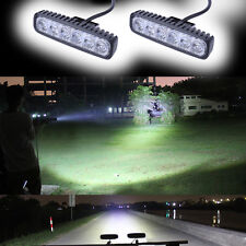 2X18W Car LED Work Light Bar Offroad Fog Reversing SUV UTE Boat Driving Lamps AU