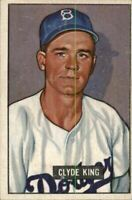 1951 Bowman #299 Clyde King RC - VG-EX