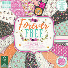 6 x 6 Premium Craft Cardstock Paper Pad - Forever Free 200gsm - 48 Sheets
