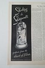 1954 Shocking de Schiaparelli perfume from heart of France mannequin bottle ad