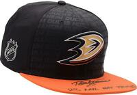 Teemu Selanne Anaheim Ducks Signed Cap with 23 Hat Tricks Insc - 8/8 - Fanatics