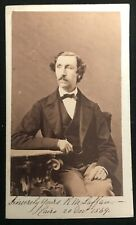 More details for royal engineers & bermuda interest: sir robert laffan 1869 signed photograph