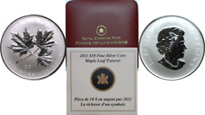 2011 Canada $10 1/2oz. Silver Maple Leaf Forever Uncirculated OGP W/COA
