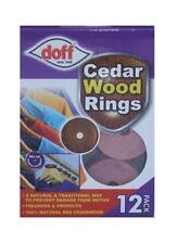 Doff Pack 12 Anillos de Madera de Cedro 100% Natural Repelente de la polilla 4 Perchas!