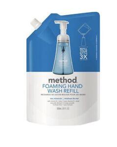 2 Pack- Method Foaming Hand Soap Refill Sea Minerals- 28 fl.oz