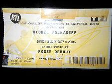 Billet de Concert Michel Polnareff / Bercy 2007 Ze retour Gilbert Coullier