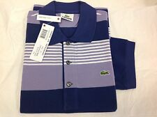 LACOSTE a righe da Uomo Polo-Shirt, Taglia 3/SMALL SLIM FIT
