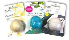3 x EOS Moisturising Luxury Lip Balms Vanilla Orchid / Vanilla Mint / Pure Soft