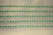 76pc 3 4 5 6mm Green Rhinestone Gemstone Scrapbooking Stickers Bling IPOD 771