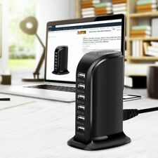 30W Multi 6 Port USB Charger 6A Rapid Charging Station Desktop Travel Hub iPhone