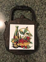 Vintage Cast Iron Trivet JAPAN Rustic Farmhouse Kitchen Hot Plate Decorama Inc