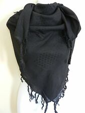 Original Fully Woven Military Army Black SHEMAGH Scarf ARAB / SAS / RETRO New
