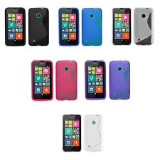 FOR NOKIA LUMIA 530 S-LINE SILICONE GEL AND SCREEN PROTECTOR CASE COVER
