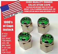 Chrome Ford 5.0 Green With Coyote Mustang SVT Cobra Shelby GT Valve Stem Caps