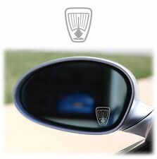 ROVER WING MIRROR - ETCHED GLASS CAR VINYL DECALS-STICKERS x4