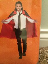 "SPOOKY VILLAGE SATIN VAMPIRE CAPE 43"" (ADULT) ONE SIZE/REVERSIBLE"