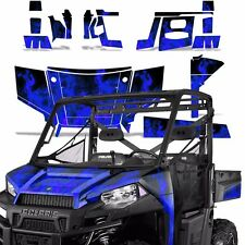 Graphic Kit Wrap For Polaris Ranger 570 900 UTV Decal Sticker SxS 13-15 ICE BLUE