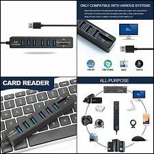 USB 2.0 Hub SD Card Reader USB Hub 2.0 with SD/TF/Micro SD Card Slot and 6 Port