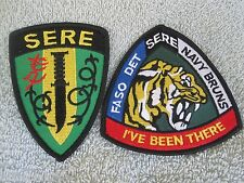 "SERE ""Survival Evasion Resistance Escape"" Training Patches SERE US NAVY 2pc Set"