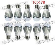 10*7W 70W E27 7W 85-265ACV white LED bulb lamp ball light indoor home office
