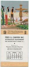 Summit,  NJ,  Fred Carver,  Mt  Boys,  April 1956 Calendar, advertising blotter