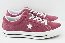 Converse One Star Ox Mens Size 7 Shoes Suede Red Bordeaux 158370C