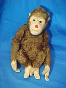 "Vintage SCHUCO 12"" Stuffed Toy MONKEY Figure Made in Germany"