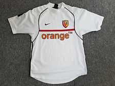 MAILLOT FOOTBALL PORTE WORN SHIRT ANCIEN VINTAGE RCL RACING CLUB LENS NIKE