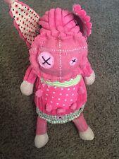Les Deglingos Plush Stuffed Animal Pink Pig