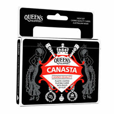 Queen's Slipper Canasta Playing Cards Casino Quality Plastic 2 x Double Decks