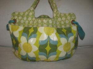 Fossil Multi-Color Floral Coated Canvas Large Hobo Purse Handbag