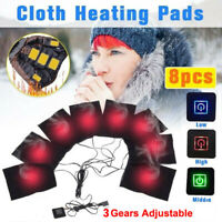 8Pcs USB Electric Cloth Heater Pads Heating Winter Thermal Vest Jacket Warmer
