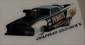 Chapman Brothers door slammer drag car  - by RatRodRalphy company decal sticker