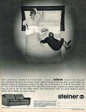 PUBLICITE ADVERTISING 124  1964  STEINER  canapé  sièges
