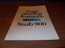 "1979 Saab 900 ""Engineering Features"" 50-Page Sales Book"