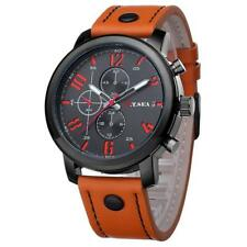 Luxury O.T.SEA Brand Leather Watches Men Military Sport Quartz Analog Wristwatch
