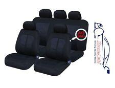 9 PCE Kensington Woven Design Full Set of Car Seat Covers Fiat Panda Bravo Punto