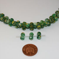1 string of approximately 80 peanut shaped green beads jewellery making