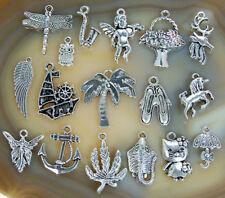 Bulk Wholesale Mixed Tibetan Silver Pendant Charms 100X