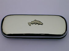 SEA TROUT FISHING FISH SPORT brand new chrome glasses case make a great gift