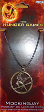 """Official! """"Hunger Games"""" Mockingjay Pendant Leather Cord Necklace Catching FIre"""