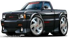 "1991 GMC Sanoma Syclone AWD Truck 4.3 Turbo 4FT 48"" Wall Graphic Man Cave Decal"