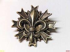 steampunk brooch badge bronze fleur de lys French heraldry monarchy lily scouts