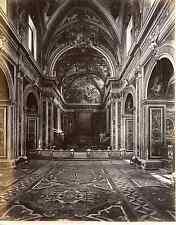 Sommer, Italia, Napoli, Chiesa di San Martino Interno  Vintage albumen print,
