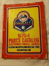 New listing 1979-1 Bally Electronic Pinball Parts Catalog Service Repair Game Manual Playboy