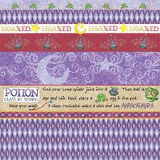 "2 Sheets 12""x12"" Scrapbook Paper ABRACADABRA Wizard Hoax Potion Potter Wizardry"