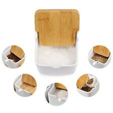 Porcelain Condiment Sugar Jar & Spoon and Lids Sugar Dish for Servin Spice Salt