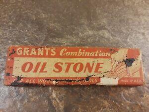 Vintage Antique - Grants Combination Oil Sharpening Stone w/Original Box!