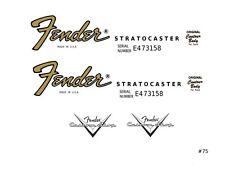 Fender Stratocaster guitar decal #75
