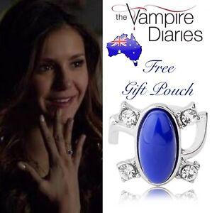 The Vampire Diaries Elena Gilbert Lapis Lazuli Daylight Sunlight Protection Ring